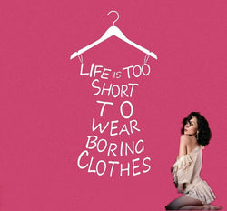 Fresh Deals Home & Living Life Is Too Short Princess Dressing Wall Stickers With Hanger