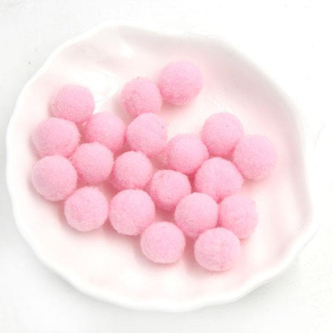 Fresh Deals Home & Living Light Pink 12 Colors Multi Option Soft Pom Poms Balls Wedding Decor