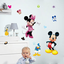 Fresh Deals Home & Living Mickey and Mini Cartoon Wall Stickers For Children Room