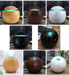 Fresh Deals Home & Living Mini Wooden Aromatherapy Essential Oil Diffuser Humidifier