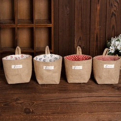 Fresh Deals Home & Living Non Storage Sack Cloth Hanging Soft Basket Storage Bags