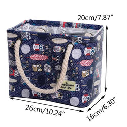 Fresh Deals Home & Living Oxford Cartoon Printing Hanging Bathing Storage Bag