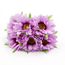 Fresh Deals Home & Living Purple Artificial DIY Sunflower Bouquet Party Wedding Decoration