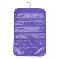 Fresh Deals Home & Living Purple Waterproof Jewelry Hanging Single-sided Fold able Storage Bag