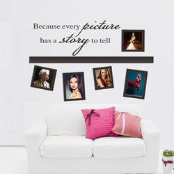Fresh Deals Home & Living Quote Every Picture Have A Story Photo Frame Wall Stickers