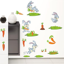 Fresh Deals Home & Living Rabbit Carrot Wall Sticker Kids Room Decor