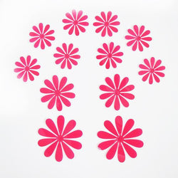 Fresh Deals Home & Living Red 3D Flower Snowflake Butterfly Decorative Wall