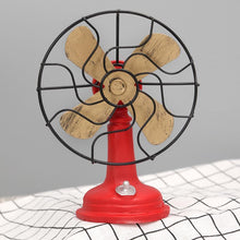 Fresh Deals Home & Living Red Antique Iron Resin Fans Craft Model Decoration Furnishing