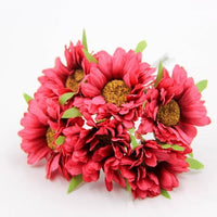 Fresh Deals Home & Living Red Artificial DIY Sunflower Bouquet Party Wedding Decoration