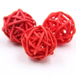 Fresh Deals Home & Living Red Party Home Decorations Rattan Spake Tarawa Balls