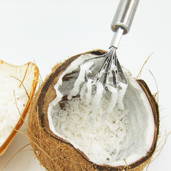Fresh Deals Home & Living Stainless Steel Coconut Shaver Scraper Grater Tool
