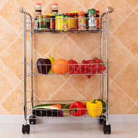Fresh Deals Home & Living Three Layers Cooking Utensils Shelves With Wheels