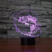 Fresh Deals Home & Living Touch switch Color Changing Fish LED USB Night Light Touch Button Desk Lamp