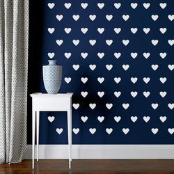 Fresh Deals Home & Living White Little Heart Wall Stickers Decals Bedroom Decor