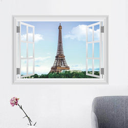 Fresh Deals Home & Living Window Paris Eiffel Tower Background Wall Stickers