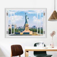 Fresh Deals Home & Living Window Statue Of Liberty Scenery Living Room Wall Stickers