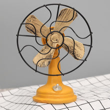 Fresh Deals Home & Living Yellow Antique Iron Resin Fans Craft Model Decoration Furnishing