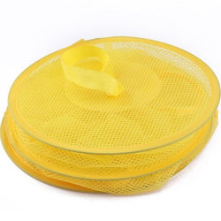 Fresh Deals Home & Living Yellow Mesh Hanging Foldable Storage Container Basket