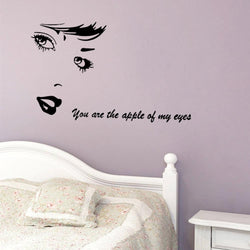 Fresh Deals Home & Living You Are The Apple Of My Eye Love Quotes Decals