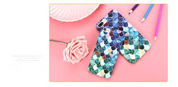 Fresh Deals Mobile & Tablet Accessories Blue Colors / For iPhone 6 6s Fish Mermaid Colorful Scale Girly iPhone Case Cover