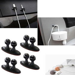 Fresh Deals Mobile & Tablet Accessories Cable Drop Clip Desk Tidy Organiser USB Charge Wire Cord
