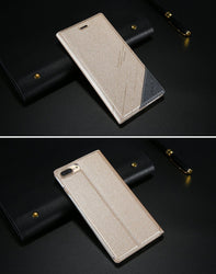 Fresh Deals Mobile & Tablet Accessories gold / For iPhone 7 Luxury Flip Case Stand Wallet iPhone Case Cover