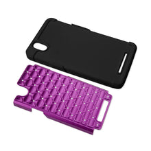 Fresh Deals Mobile & Tablet Accessories Hybrid Heavy Duty Jewelry Diamond Case In Black Purple For ZTE Zmax