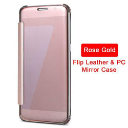 Fresh Deals Mobile & Tablet Accessories Mirror Flip Full Clear Deluxe Case For Samsung Galaxy
