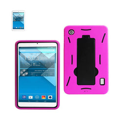 Fresh Deals Mobile & Tablet Accessories New Non Slip Case With Kickstand In Black Hot Pink For Alcatel One Touch Pop 7