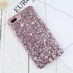 Fresh Deals Mobile & Tablet Accessories Pink / For iPhone 7 Colorful Case Luxury Sequin Glitter Phone Cover Case