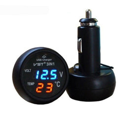Fresh Deals Mobile & Tablet Accessories Temperature Meter Cigarette Lighter Car USB Charger