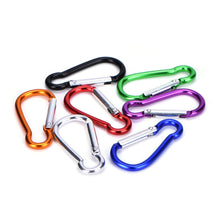 Fresh Deals Sports &Travel Aluminum Alloy D Carabiner Spring Snap Keychain Clip