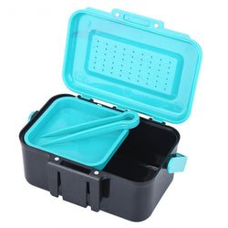 Fresh Deals Sports & Travel Earthworm Bait Storage Waist Holder Fishing Tackle Box