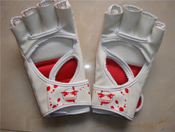 Fresh Deals Sports &Travel Red Blood Skulls Half Fingers Boxing Karate Punch Mitts Gloves