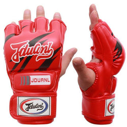 Fresh Deals Sports &Travel Red Half Fingers Adult Men Boxing Punch Kickboxing Equipment