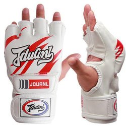 Fresh Deals Sports &Travel White Half Fingers Adult Men Boxing Punch Kickboxing Equipment