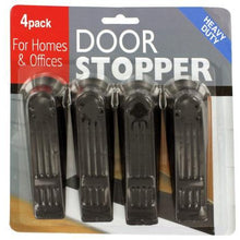 Kole Imports Hardware Durable Black Plastic Door Stoppers 4 Pieces Set of 24 Pack