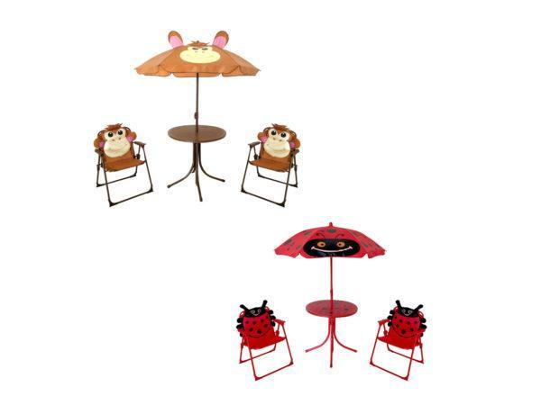 Kole Imports Lawn U0026 Garden Assorted Kids Patio Umbrella Set 3 Piece