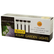Kole Imports Lawn & Garden Charming Flowerbeds Solar Powered Garden Lights Set 4 Pieces