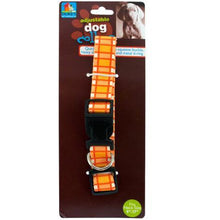 Kole Imports Pet Supplies Adjustable Dog Collar With Plaid Design Set of 24 Pack