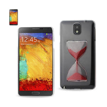 Reiko Mobile & Tablet Accessories 3D Sand Clock Clear Case In Red For Samsung Galaxy Note 3 By Reiko
