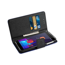 Reiko Mobile & Tablet Accessories Alcatel idol 4 3-In-1 Wallet Case In Navy By Reiko
