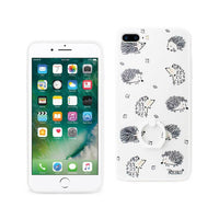 Reiko Mobile & Tablet Accessories Hedgehog Pattern TPU Case In White For IPhone 7 Plus By Reiko