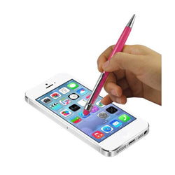 Reiko Mobile & Tablet Accessories New Crystal Stylus Touch Screen With Ink Pen In Pink By Reiko