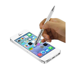 Reiko Mobile & Tablet Accessories New Crystal Stylus Touch Screen With Ink Pen In White By Reiko