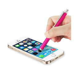 Reiko Mobile & Tablet Accessories New Mini Stylus Touch Screen Pen With Clip In Hot Pink By Reiko