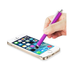 Reiko Mobile & Tablet Accessories New Mini Stylus Touch Screen Pen With Clip In Purple By Reiko