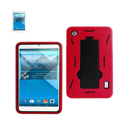 Reiko Mobile & Tablet Accessories New Non Slip Case With Kickstand In Black Red For Alcatel One Touch Pop 7 By Reiko