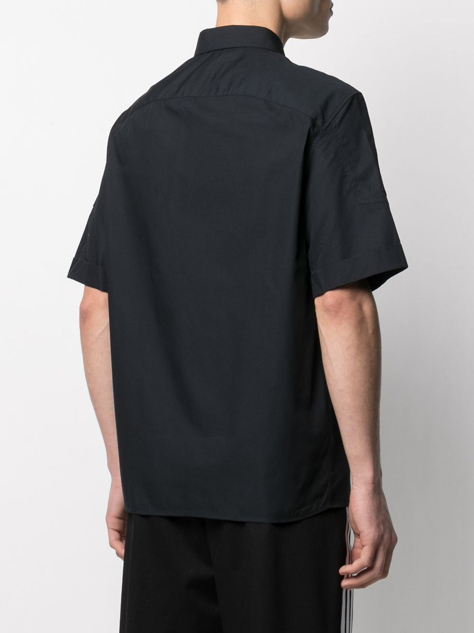NEIL BARRETT SHIRT ZIP BLACK