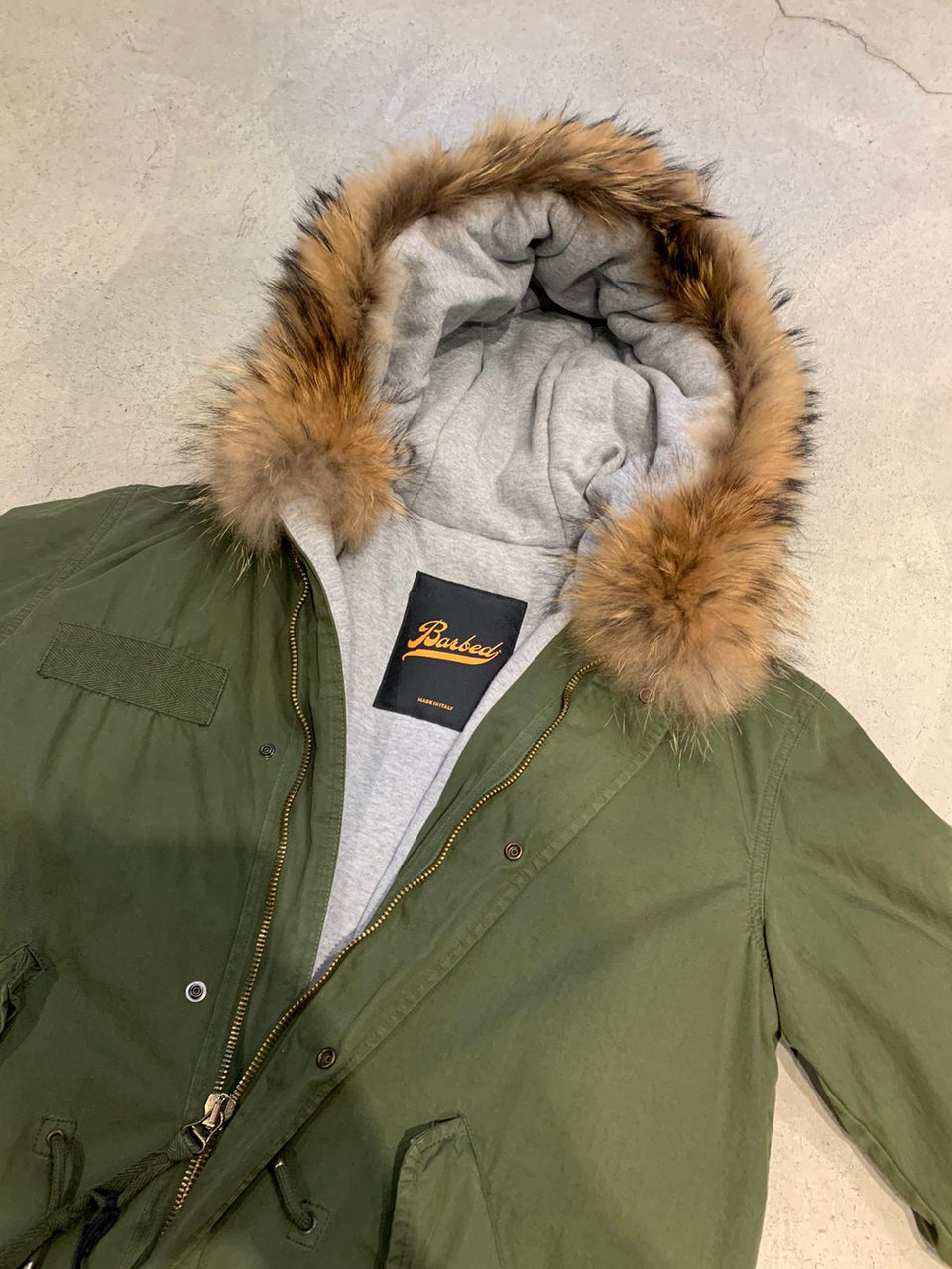 BARBED PARKA WITH FUR